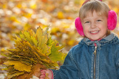 Cheerful autumn Stock Photo