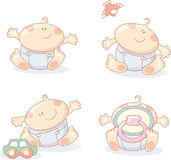 Cheerful babies Royalty Free Stock Photo