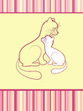 Cheerful babies card. Cats. Stock Photos