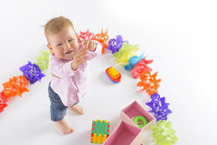 Cheerful baby boy Royalty Free Stock Photography