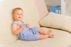 Cheerful baby boy Stock Photography