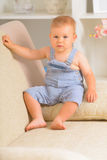 Cheerful baby boy Stock Photos