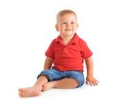 Cheerful baby boy Stock Photos