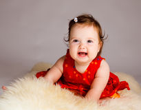 Cheerful baby girl Royalty Free Stock Photos