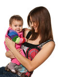Cheerful baby girl with her mother Stock Photography