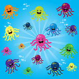 Cheerful baby octopus Royalty Free Stock Photo
