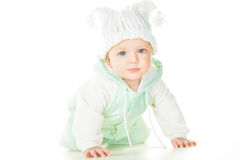 Cheerful baby six months old Stock Image