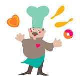 Cheerful baker Stock Images