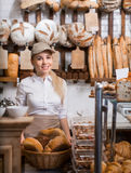 Cheerful baker Stock Photography