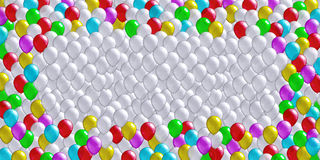 Cheerful balloons background Stock Photography