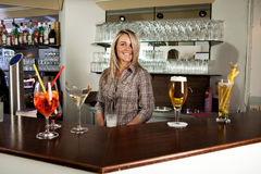 Cheerful bartender Royalty Free Stock Image