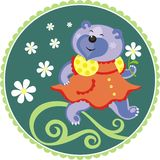 Cheerful bear Stock Photography