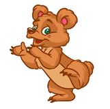 Cheerful Bear Dance cartoon Royalty Free Stock Photo