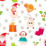 Cheerful, Beautiful festive seamless pattern Royalty Free Stock Photos