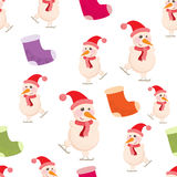 Cheerful, Beautiful festive seamless pattern Stock Photo