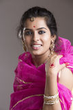 Cheerful Beautiful Indian girl portrait Stock Photography