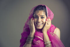 Cheerful Beautiful Indian girl portrait Royalty Free Stock Images