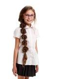 Cheerful beautiful schoolgirl portrait Royalty Free Stock Photography