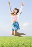 Cheerful beautiful young woman Stock Photo