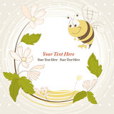 Cheerful bee Stock Photo