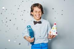 Cheerful birthday Stock Images