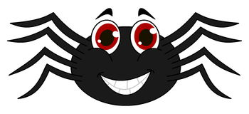 Cheerful black spider Royalty Free Stock Photos