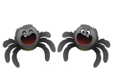 Cheerful black spider smiling broadly Stock Photo