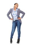 Cheerful black woman Stock Images