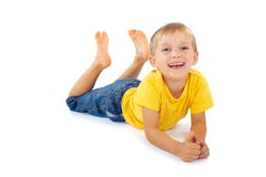 Cheerful blond boy Royalty Free Stock Photo