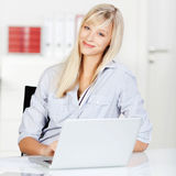 Cheerful blond female Stock Images