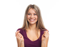 Cheerful blond girl Royalty Free Stock Photos