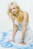 Cheerful blond woman Royalty Free Stock Photography