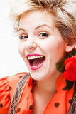 Cheerful blonde Royalty Free Stock Photos