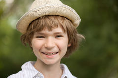 Cheerful blonde boy Royalty Free Stock Photos