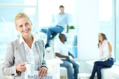 Cheerful blonde Stock Photography