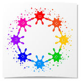 Cheerful blots framework Royalty Free Stock Photo