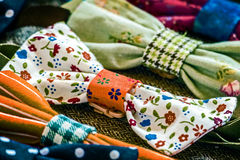 Cheerful bowties Stock Images