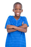 Cheerful boy with arms crossed Stock Photography