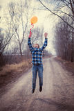 The cheerful boy with a balloon Stock Photography