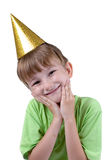 Cheerful boy in a festive hat Stock Images