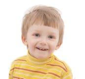 Cheerful Boy On White Background. Stock Photo