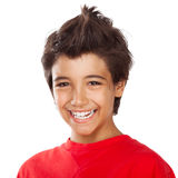 Cheerful boy portrait Stock Photos