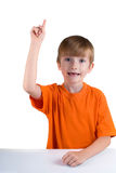 Cheerful boy raised his finger up Royalty Free Stock Images