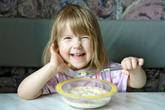 Cheerful breakfast Stock Images