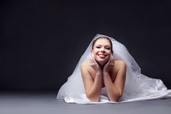Cheerful bride Royalty Free Stock Image