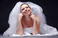Cheerful bride Royalty Free Stock Photography