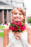 Cheerful bride Royalty Free Stock Photo