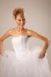 Cheerful bride Stock Image