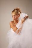 Cheerful bride Stock Photos