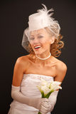 Cheerful bride dressed in  retro style Royalty Free Stock Photo